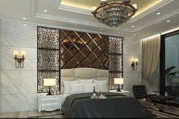 kamar tidur utama dengan design klasik
