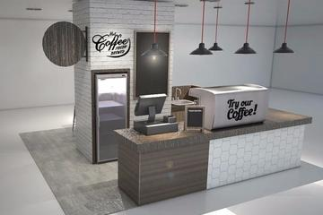 Propose design for coffee booth in tangcity