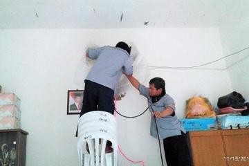 Sekretariat RW 08 Jati Pulo: Pemeliharaan rutin berupa pengecekan kondisi unit indoor & outdoor, cuci ac dan tambah freon