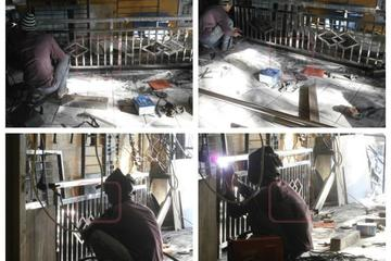 Pengerjaan Railing Balkon Stainless Steel Grade 304