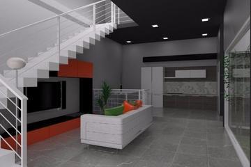 compact house interior