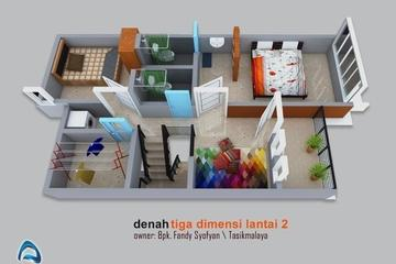 denah tiga dimensi, 3d floor plan, desain rumah modern minimalis, desain rumah minimalis, desain rumah modern