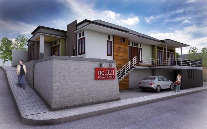 Desain rumah tinggal bapak Irwan Kadir, kota Ternate, Maluku Utara