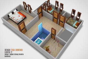 denah tiga dimensi lantai 2