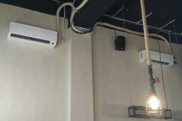 Dengan instalasi pipa AC konsep timbul