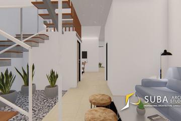 Interior - Ruang tamu untuk menerima tamu yang datang, dengan konsep modern.