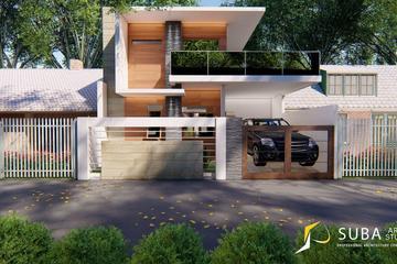 Exterior - Tampak depan rumah dengan konsep minimalist, modern.