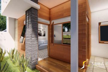 Exterior - Halaman depan rumah untuk resapan dan akses jalan masuk pintu utama rumah, dengan konsep contemporer, minimalist, modern.