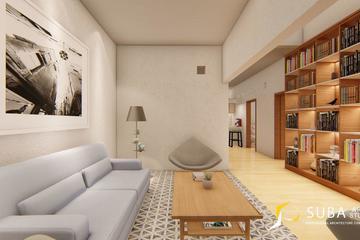 Interior - Ruang tamu untuk menerima tamu yang datang, dengan konsep contemporer, modern.