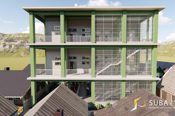 Eksterior - tampak depan bangunan dengan konsep minimalist modern