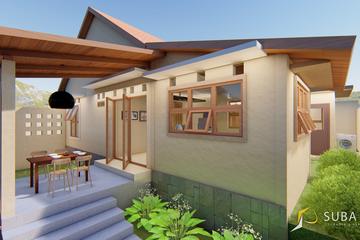Eksterior - Tampak Belakang bangunan dengan konsep minimalist