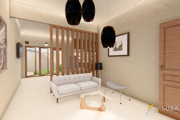 Interior - Ruang tamu untuk menerima tamu, dengan konsep minimalist