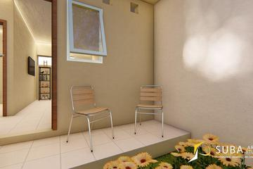 Exterior - Halaman belakang rumah untuk bersantai, dengan konsep modern.