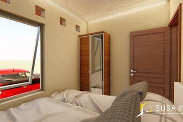 Interior - Kamar tidur 1 untuk beristirahat, tidur, dan bersantai. Dengan konsep modern.
