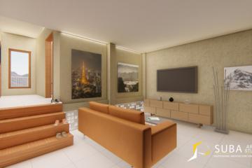 Interior-Ruang keluarga sebagai tempat bersantai dan berkumpul bersama keluarga.Dengan konsep minimalist.