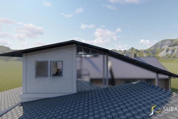 Eksterior - Tampak samping kanan bangunan, dengan konsep Minimalist