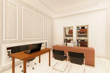Interior - Ruang kerja dalam rumah untuk memeberi kenyamanan dalam menyelesaikan pekerjaan di rumah, dengan desain kontemporer.