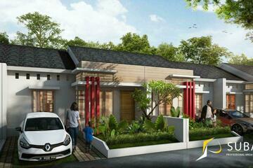 Eksterior - Rumah tipe 45. dengan konsep minimalist.