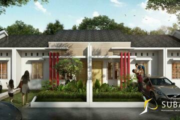 Eksterior - Rumah dengan tipe 45. dengan konsep minimalist.