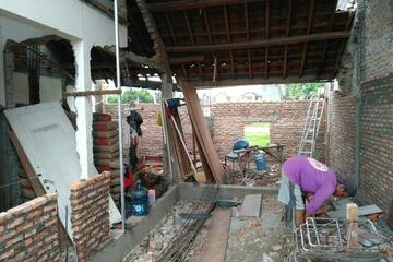 Proses Pemasangan Dinding