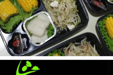 Grilled ikan dosi, jagung manis rebus, cah toge tahu