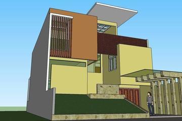Desain rumah di Jatiasih, Bekasi