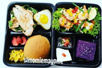 Naked Egg Royale and Prawn Salad