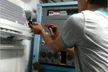 Bongkar pasang ac server operator seluler