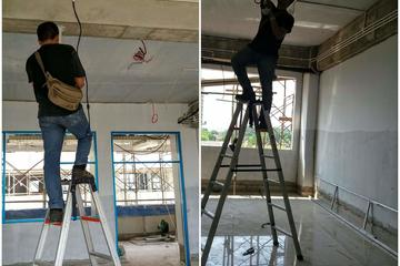 Pemasangan instalasi listrik nanyang school. Bsd