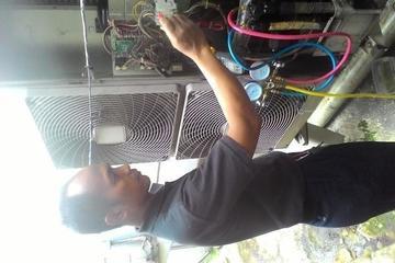 pengecekan ac 2 pk,power mati melulu,karena over load.