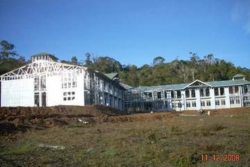 Pembangunan Hotel Tolikara dgn konstruksi baja ringan