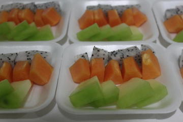 contoh buah potong sebagai snack sehat