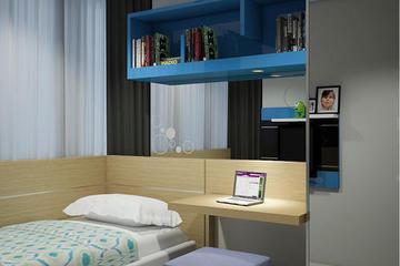 Design 3D untuk kamar anak Apartemen