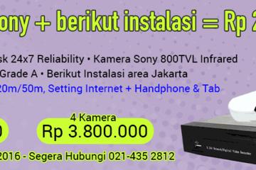 Paket CCTV Sony