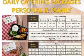 Price List Daily Catering