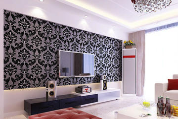 Medium gambar wallpaper dinding ruang tamu 9  1