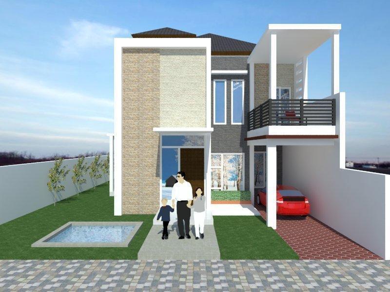 107 Gambar Rumah Tampak Depan Minimalis 2 Lantai Terbaru