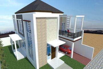 Proyeksi miring Rumah minimalis 2 lantai