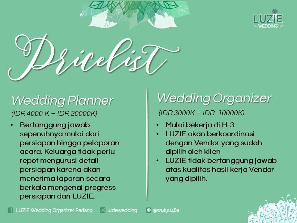 LUZIE Wedding Organizer