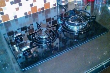 kompor gas flat/tanam 2 tungku,merk modena cocok untuk apartemen dan dapur bersih