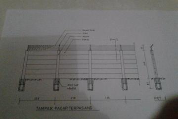 Drawing Pagar Panel Beton