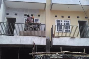 pengecatan dinding depan rumah tinggal perum. DPR kemanggisan slipi jakbar