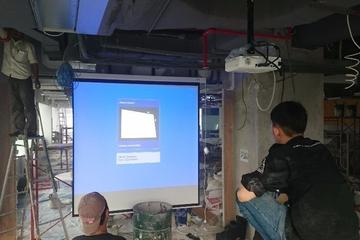 Test Screen Motorized Speaker & Projector EPSON